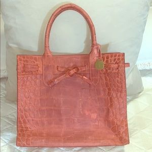 Crocodile Red Leather Purse
